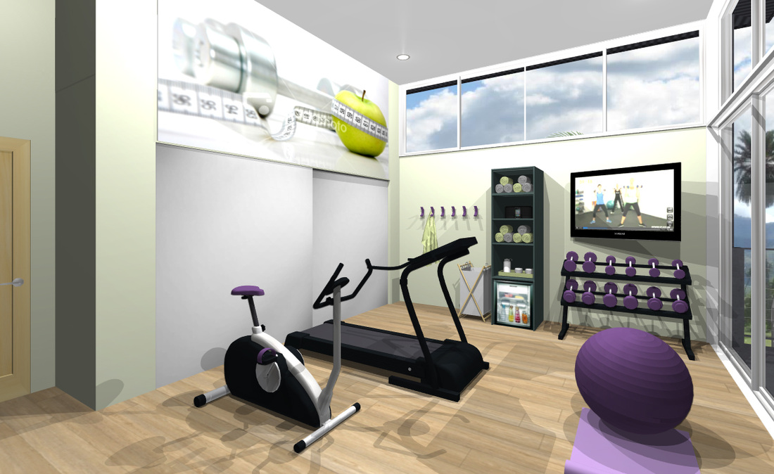 Home fitness room designs emily design modern interior for Home gym interior design